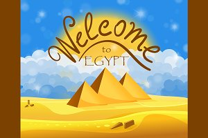 Cartoon Egyptian concept pack 9 in 1