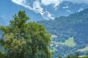 Lake Passy and Mont Blanc mountain
