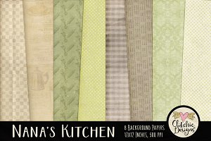 Nana's Kitchen Digital Paper Pack