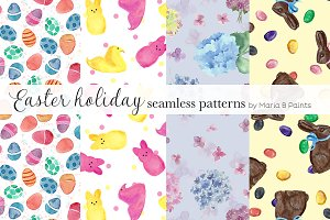 Watercolor Seamless Pattern - Easter