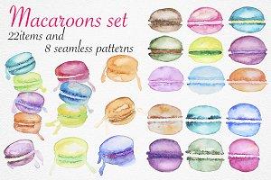 Macaroons set