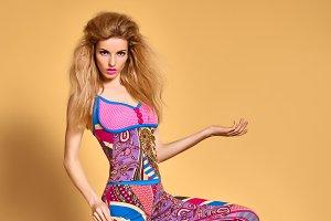 Fashion beauty Woman.Expressive