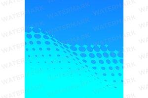 Blue half tone background pattern