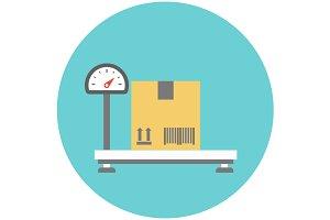 Weighing cardboard box