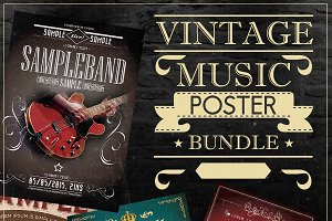 Vintage Music Poster Bundle