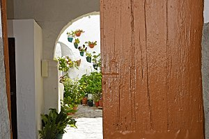 an Andalusian patio entrance