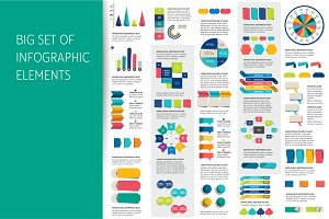 Mega set of infographics elements.