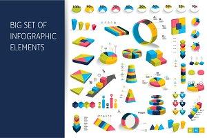 3D infographics elements.