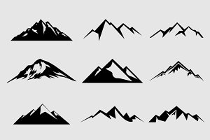 Shapes: LovePowerDesigns - Mountain Shapes For Logos Vol 2
