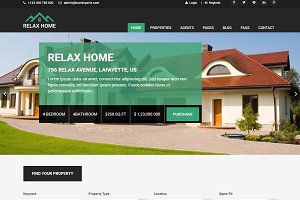 Relax Home - Real Estate Template