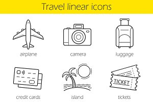 Travelling icons. Vector