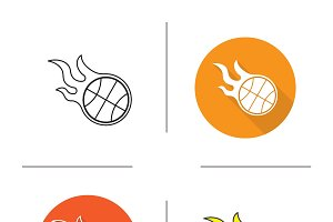 Basketball ball icons. Vector