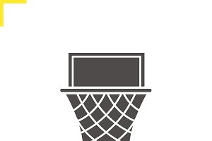 Basketball hoop icon. Vector