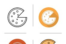 Pizza icons. Vector