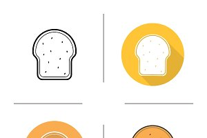 Toast icons. Vector