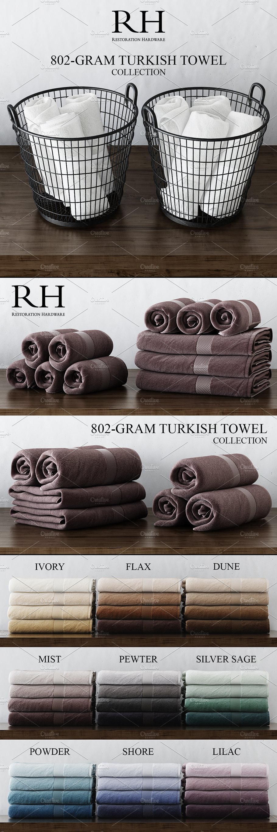 Rh 802 Gram Turkish Towel Collection Objects Creative Market