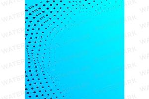 Negative space half tone pattern