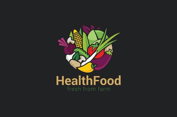 Vegetables Mix Food Logo Organic Eco Logo Templates