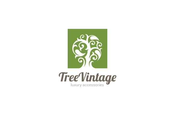 Vintage Magic Fairy Tree Logo Templates Creative Market