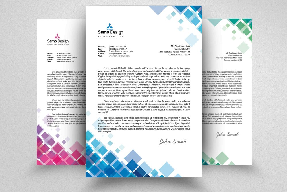 Business Letterhead Template Stationery Templates Creative Market – Business Letterhead