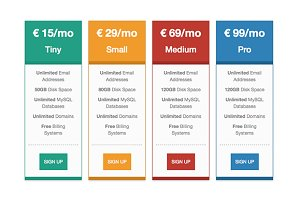 Responsive Pricing Tables