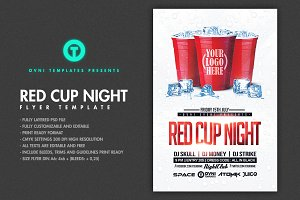 RED CUP Night Flyer Template