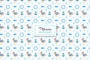 Marine Pattern Background