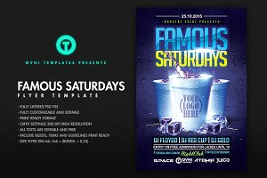 FAMOUS SATURDAYS Flyer Template