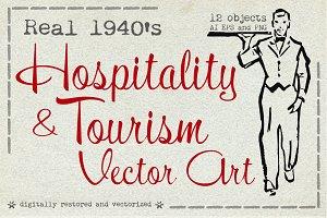 1940s Hospitality & Tourism Art