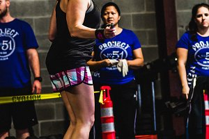 Crossfit Workout Competition Woman