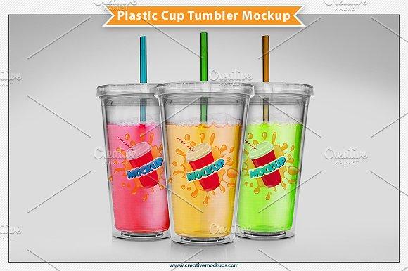 Download Plastic Cup Tumbler Mockup