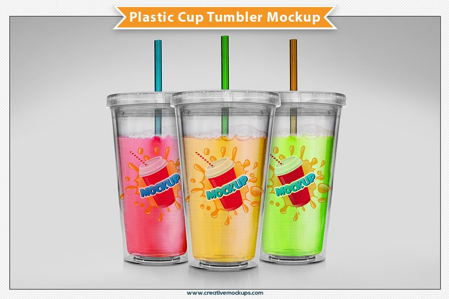 Plastic Cup Tumbler Mockup Creative Product Mockups Creative