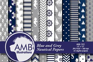 Nautical Digital papers, AMB-1251