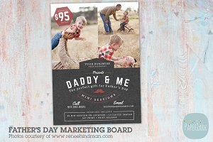 IF020 Father's Day Marketing Board