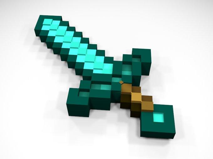 Minecraft Diamond Sword - Full 3D ~ Weapons ~ Creative Market