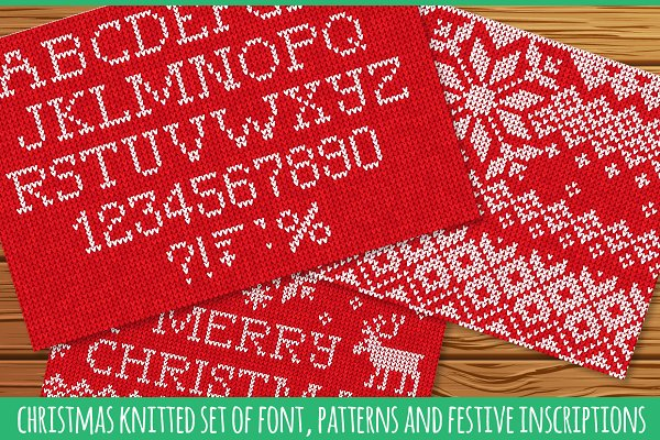 Knitted FONT and patterns (r)
