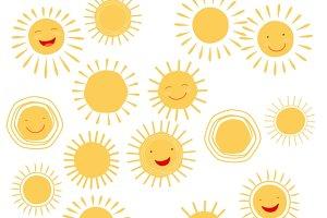 Sun smile symbols