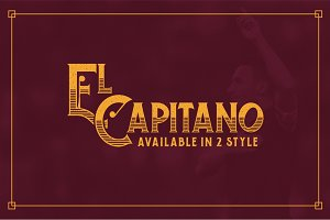 El Capitano Typeface