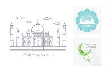 Vector Set Ramadan Kareem