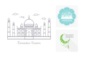 Vector Set Ramadan Kareem