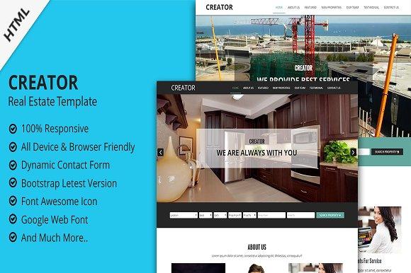 Creator - Real Estate Template