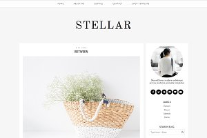 "Simple Blogger Template ""Stellar"""