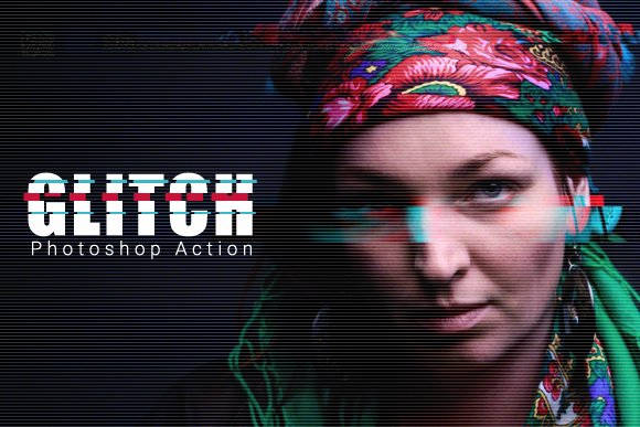 how to add glitch effect in photoshop