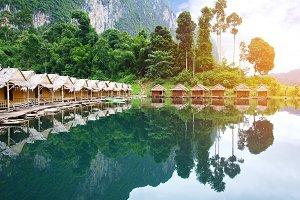 bamboo house in Khao sok Thailand