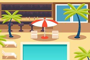 Sunny Pool Hotel Summer