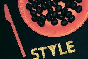 Black Style. Minimalism art fashion.
