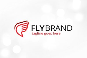 Fly Brand Logo Template