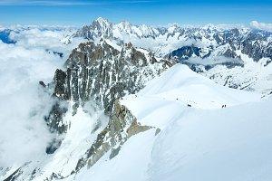Mont Blanc mountain massif