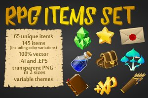RPG game items set