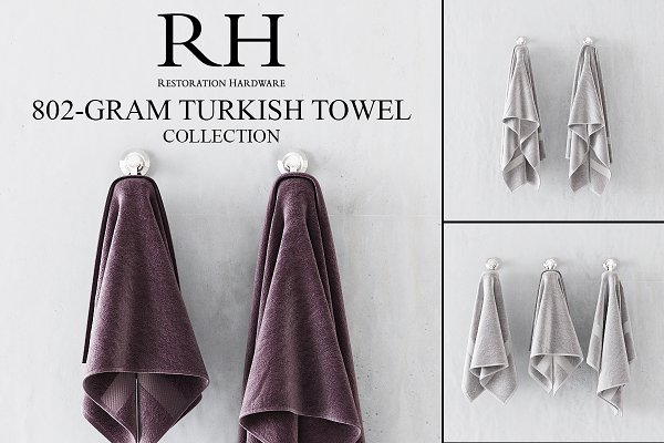 3D Objects - RH 802-GRAM TURKISH TOWEL COLLECTION